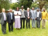 L-R Int'l Sec. Gen. Mr. Keith Newton; (3rd L) Mrs. P. Mwaba; (5th L) Int'l President, Mr. Paul Brooks; (3rd R) President, CILTN & (IVP & Chairman, Africa Forum), Maj Gen UT Usman (Rtd)