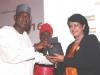 President CILTN & IVP, Africa Maj Gen UT Usman (Rtd), presenting a souvenir to H.E., Mrs. Ameenah Gurib Fakim, President of Mauritius