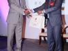 President CILTN & IVP, Africa, Maj Gen UT Usman (Rtd), receiving a souvenir from the Chairman of CILT, Mauritius, Mr. Naden Padayachi