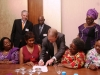 Sec. Gen, CILT Int'l, Mr. Keith Newton, signing the WiLAT Africa Constitution