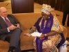 David Collenette, IVP (North America) & Hajia Aisha Ibrahim (WiLAT Global Convenor) in a chat during the Convention