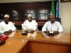 R-L- Mr. Hassan Bello, Executive Secretary-CEO of Nigerian Shippers' Council, National President, CILT, Nigeria, Mr. Ibrahim Jibril, FCILT & Mr. Pire Park, Maritime Rep Mode of CILT Council