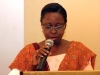 Miss. A. Sonaike (GM, Western Ports, NPA) delivering her lecture @ the forum