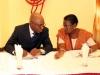 Miss. A. Sonaike (GM, Western Ports, NPA) in a chat with the Nat'l President, CILTN, Maj Gen UT Usman (Rtd)