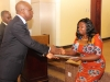 Presentation of Corporate Membership certificate to Rep of E.Ekeson Bros. Nig. Ltd