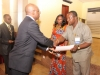 Presentation of Corporate Membership certificate to Rep of Transport & Logistics Ltd