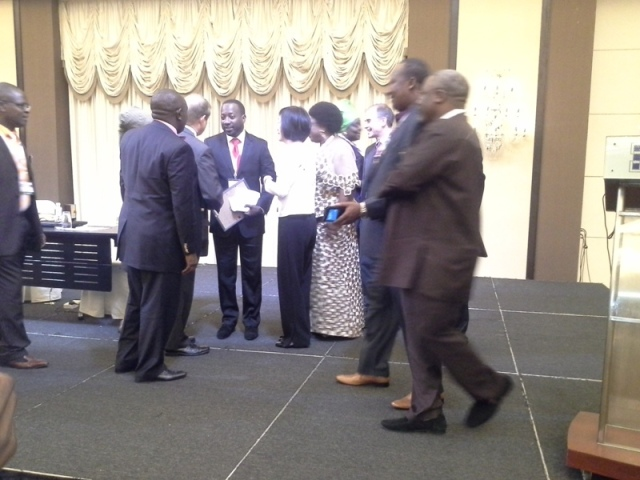 After the presentation of d Institute's Fellowship cert to d rep of Plateau state Governor