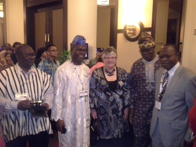 L-R- Dr. KT Gbadamosi, Mr. Alba Igwe, an Int'l delegate, Mr. Paul Ndibe & Mr. Francis Ehiguese @ d convention