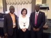CILT Int'l President, Dr. Dorothy Chan (middle) flanked by Mr. Paul Ndibe (R) & Mr. Alban Igwe (L)