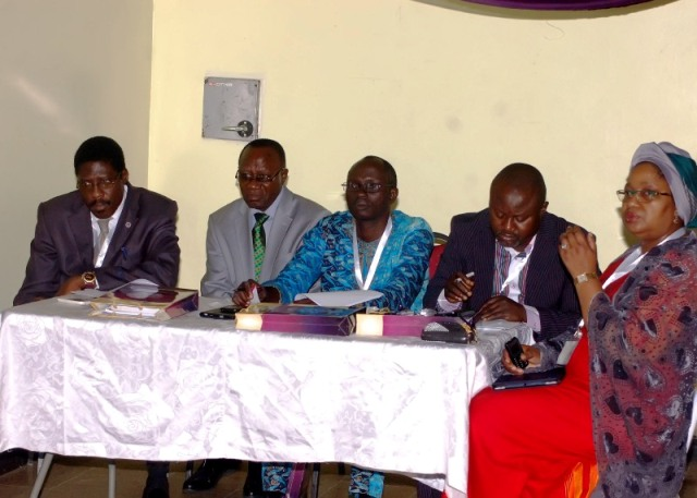 Cross section of the Panel of Judges during the debate