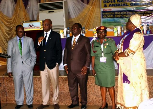 L-R- NED, Nat'l President, Chairman PDC, a member of BoT, WiLAT Nigeria & WiLAT's Global Convener @ d AGM