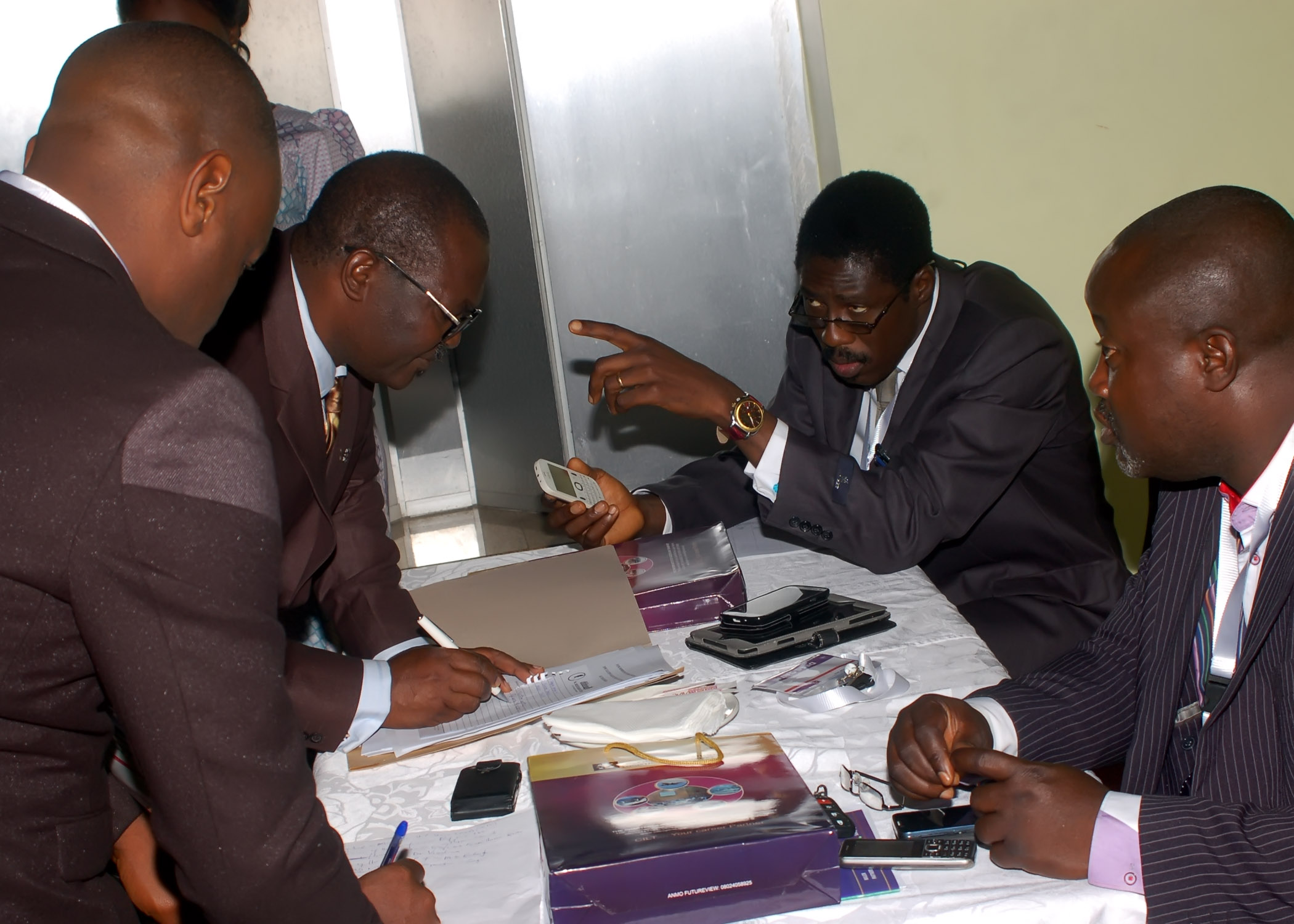 Members of the panel of judges deciding the winners of d Nat'l President's award