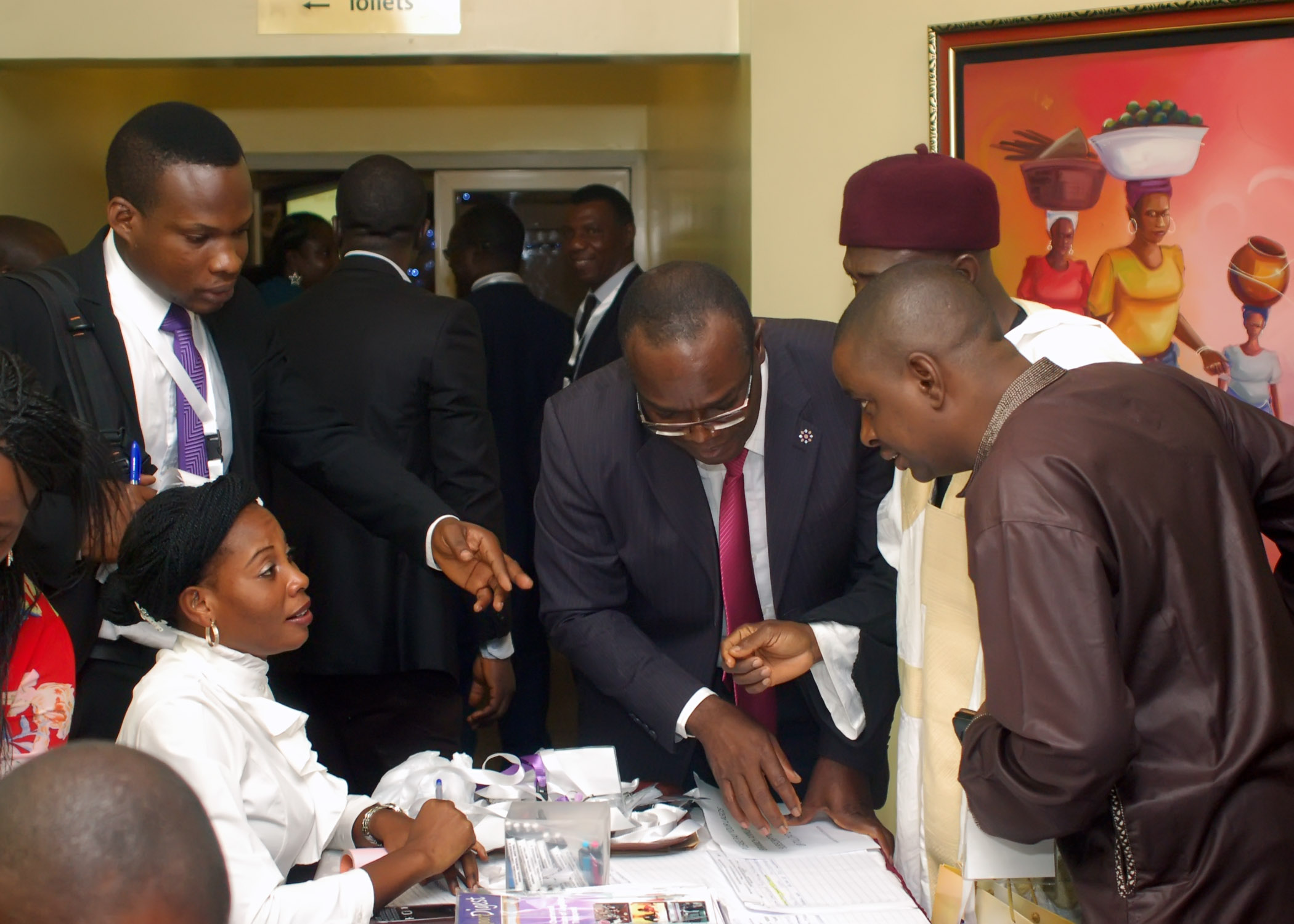 Participants registering before the conference