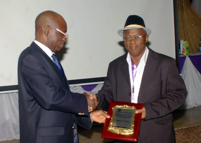 Presentation of Award to d TP with d highest no of students to Mr. Patrick Aboje of Multimix Academy