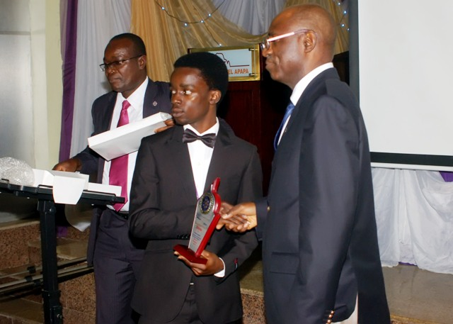 Presentation of award to d winners of d debate by d Nat'l President