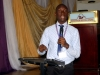 One of the contestants during d debate for the Nat'l President's Award @ d AGM