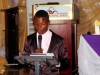 One of the contestants during the debate for the President's Award @ d AGM