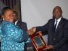 Presentation of d best Graduating Student in Int'l Adv Dip Exams in 2013 to  Abraham Chinyere by d Nat'l President