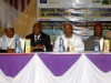 Rep of d Hon. Min of Transport, Dr. Viashima (2nd R), Nat'l President & other Council members