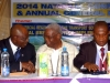 Rep of d Hon. Min. of Transport, Dr. Viashima being welcomed to d high table by d Nat'l President