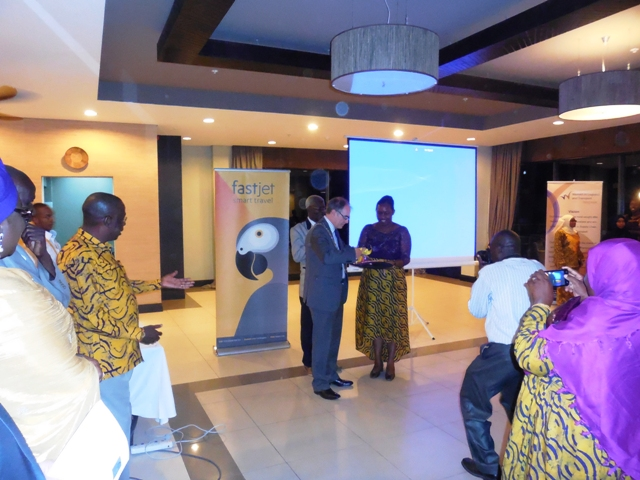 Presentation of souvenir the Chairperson of WiLAT, Tanzania to the President, CILT Int'l, Mr. Paul Brooks @ the Forum