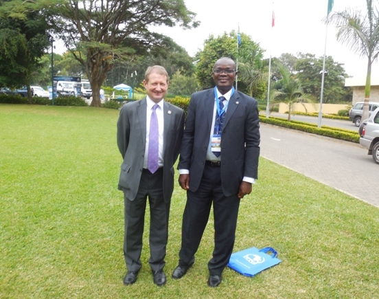 Sec. Gen. Mr. Keith Newton & Mr. Paul Ndibe (Deputy Director, Finance & Admin, CILTN) @ the Forum