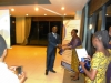 National President, CILTN, Maj Gen UT Usman (Rtd), FCILT, receiving a souvenir from a rep of WiLAT, Tanzania