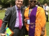 President, CILT Int'l, Mr. Paul Brooks with Hajia Aisha Ali-Ibrahim (Global Convener, WiLAT) @ d Forum