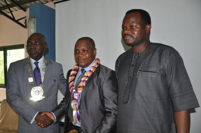 L-R- Nat'l President, CILTN, Maj Gen UT Usman (Rtd), FCILT, Mr. Dele Alabi, FCILT & Dr. Ade Dosunmu, MON, FCILT @ d Forum