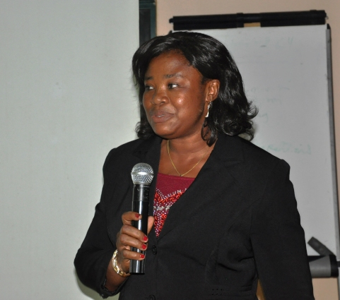 Mrs. Femi-Pidan responding on behalf of the newly inducted Members (MILT)