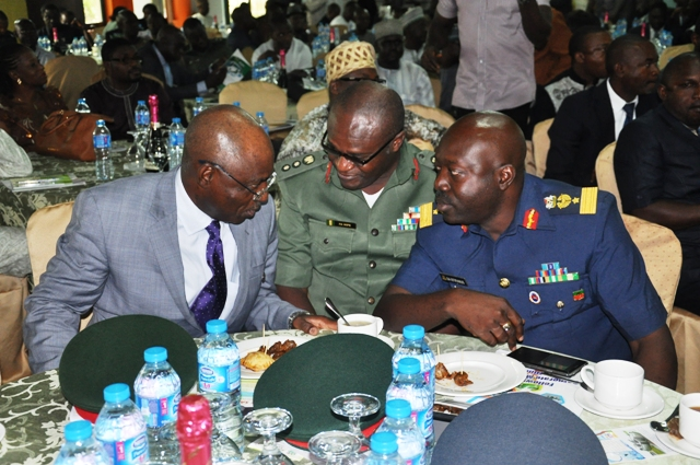 The National President, Maj Gen UT Usman (Rtd), FCILT in a chat with some of the invited guests