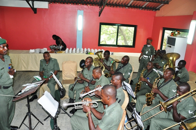 The Nigerian Army Band entertaining guests @ the Forum
