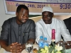 L- Dr. Ade Dosunmu, MON,FCILT (Member of BOT, CILTN) in chat with a one of the dignitaries on d high table