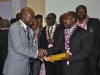 President, CILTN, Maj Gen UT Usman (Rtd),FCILT presenting certificates to Prof. Adesoji Adesanya, FCILT