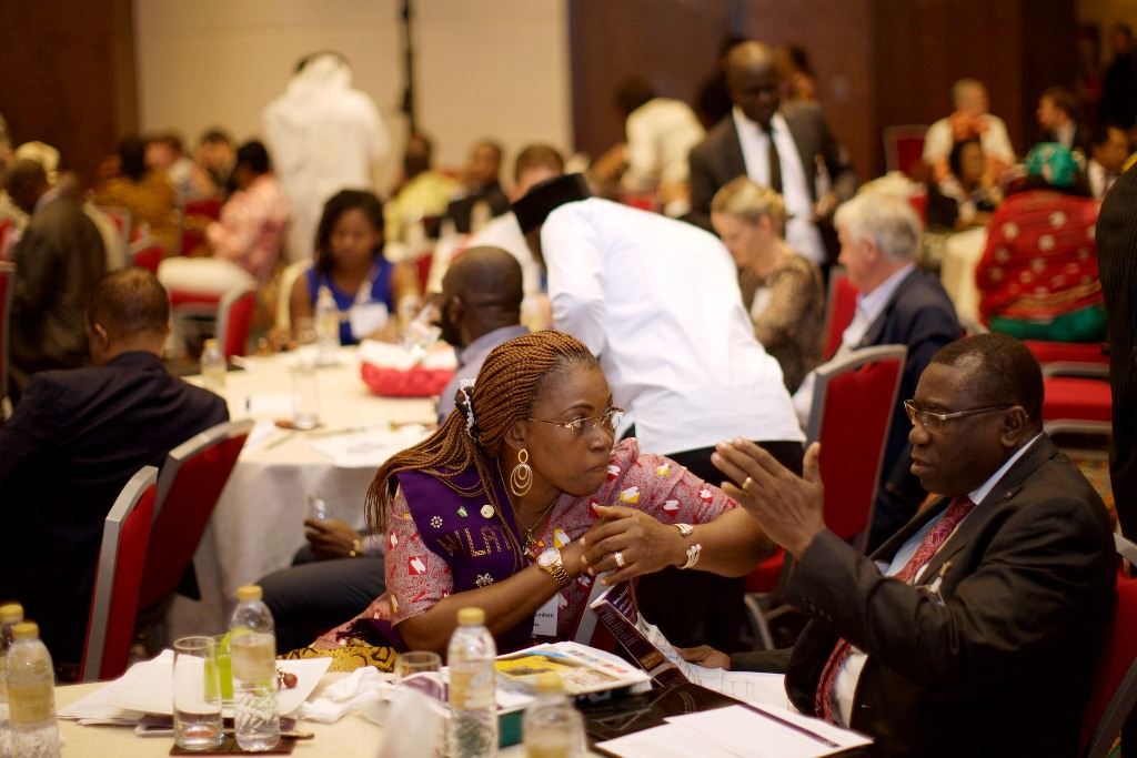 Deputy Nat'l President, CILT Nig, Prof. Kayode Oyesiku in a chat with Mrs. Funmilayo Loremikan during d Int'l Convention