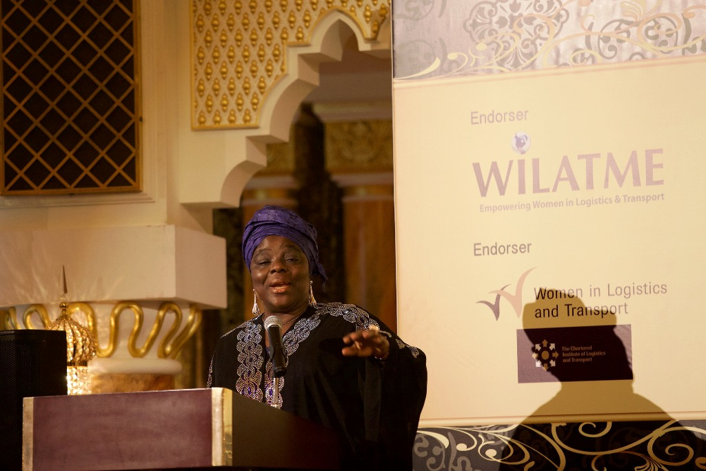 Founder & Global Convener of WiLAT, Hajia Aisha Ibrahim making a speech during d WiLAT Dinner @ d ICM