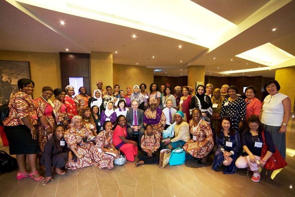 Int'l President, Mr. Paul Brooks (middle seat) with other members of d Women in Logistics & Transport during d Int'l Convention