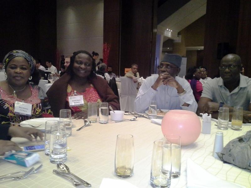 R-L- Mr. JC Nwankwo, Nat'l President, CILTN, Maj Gen UT Usman (Rtd), Mrs. Ogenyi Enoche & Mrs. Mary Hamman during d ICM