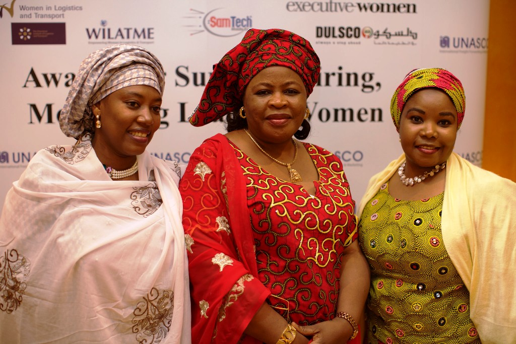 R-L- Mrs. Hadiza Maina, Mrs. Mary Hamman & a member of WiLAT, Nigeria during d WiLAT Award night @ d ICM