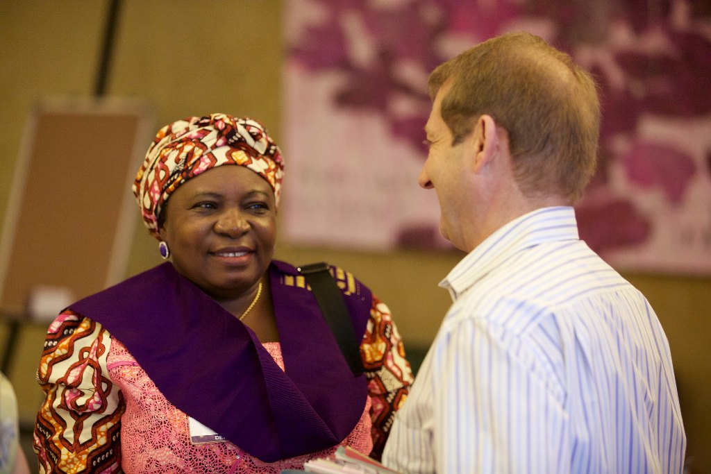 Sec. Gen. - Mr. Keith Newton & Mrs. Ande Josephine (WiLAT, Nigeria member) during d WiLAT Conference @ d ICM
