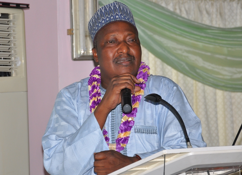 Dr. Aminu Yusuf, FCILT. (DG, NITT & VP, North CILT, Nig Nat'l Council) delivering a speech at the event.