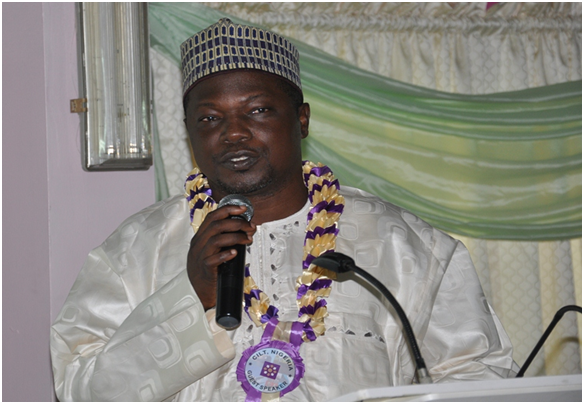 Representative of MD, FAAN delivering his lecture during the event
