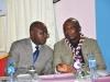 L-R Maj. Gen. U.T. Usman (Rtd), FCILT, Nat'l President, CILT, Nig in a chat with Dr. Bob Ekwuribe, FCILT, Vice President (East) CILT, NIg during the event