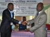 R- Maj. Gen UT Usman (Rtd), FCILT (Nat'l President CILT, Nig) during the presentation of plague to newly registered Corporate Member