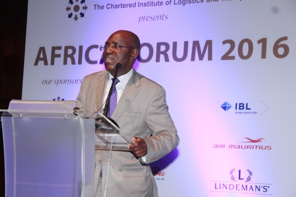 National President, CILT, Nigeria & IVP, Africa Maj Gen UT Usman (Rtd), delivering his address during the Africa Forum
