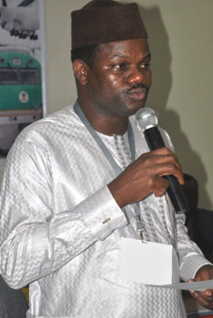Dr. Ade Dosumu FCILT, The Chairman, National Election Committee giving a speech at the 2016 AGM