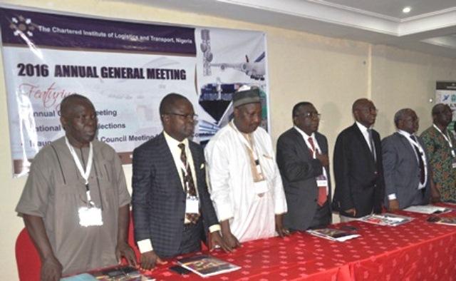 L-R-Engr. P. Azagba, Mr. A. Igwe (DNP), Mr. A. Yusuf (D.G, NITT), Prof. K. Oyesiku (fmr DNP), Maj Gen UT Usman (Retd), (fmr NP), Mr. Jibril Ibrahim (NP) & Dr. B.Ekweribe