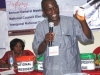 The Secretary, National Election Committee, Mr. Ajala A. Taiwo, CMILT counting and reading out the votes