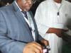 The newly elected National President, Mr. Ibrahim A. Jibril casting his vote