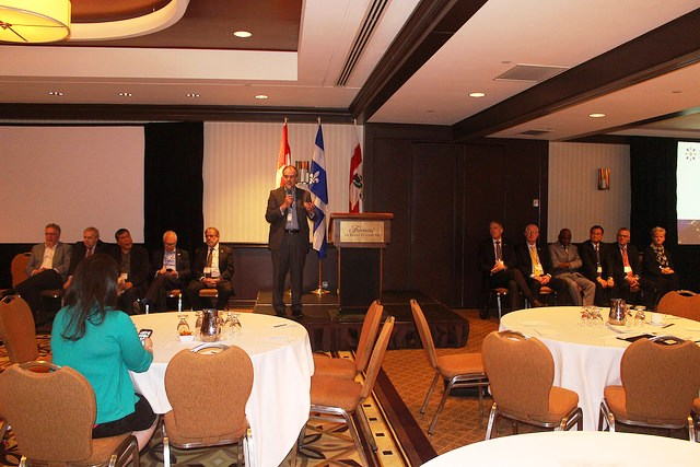 Paul Brooks, CILT Int'l President addressing delegates during the International Council Meeting
